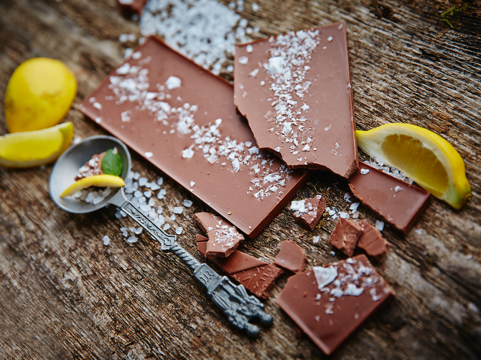 Milk chocolate / lemon sea salt