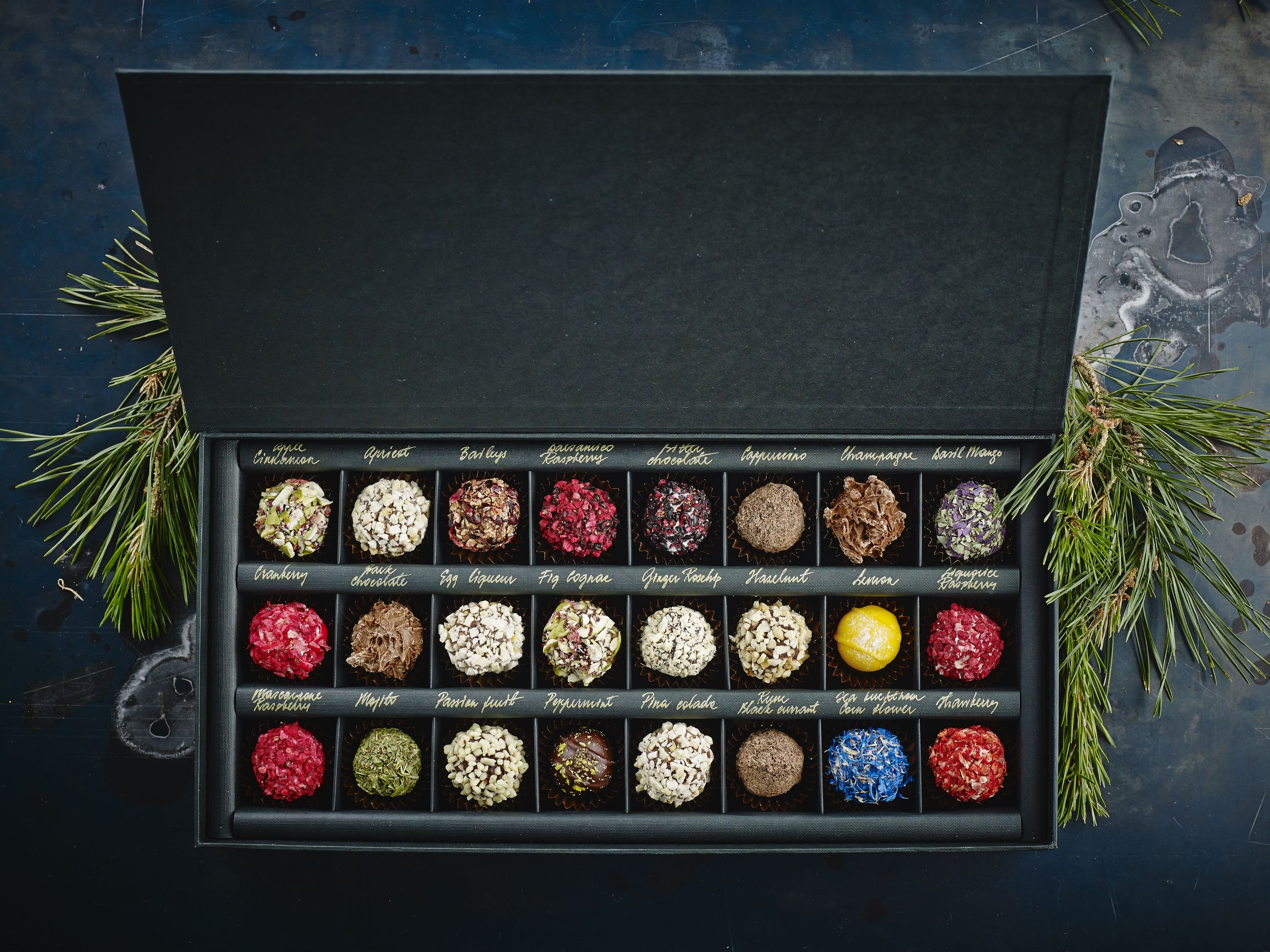 Any 24 chocolate truffles selection in exclusive gift box